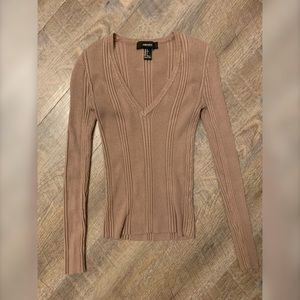 Forever 21 Ribbed Long Sleeve Top